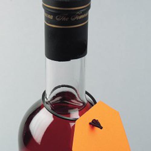 Черен холдер за реклама върху бутилка