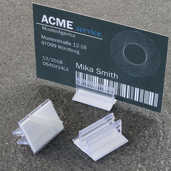 Холдер за реклама 19 мм х 25 мм 90 ° с 3 - 4 мм грип