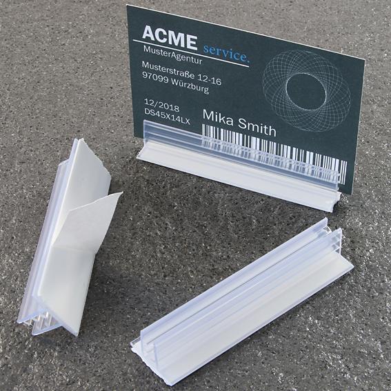 Холдер за стоп реклама 19 мм х 75 мм 90 ° с 3-4 мм грип