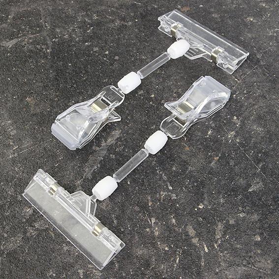 Холдер за цена или реклама с голяма щипка, 80 мм държач и удължение