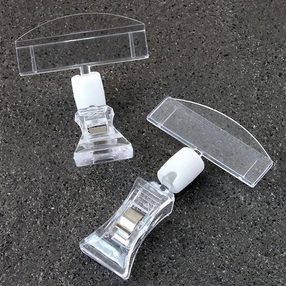 Холдер за цена или реклама с щипка и 50 мм държач